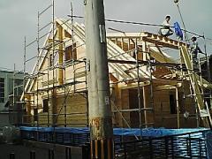 屋根垂木施工